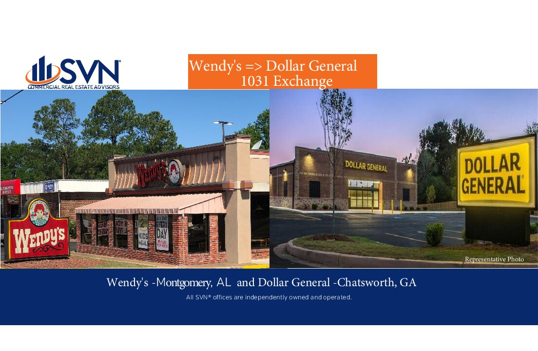 Wendy's => Dollar General